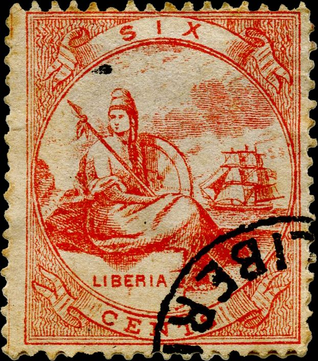 Liberia_Allegory_1st-series_6c_Mercier_Forgery
