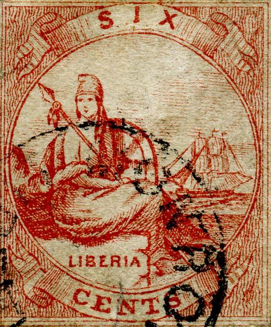 Liberia_Allegory_1st-series_6c_Unknown_Forgery2