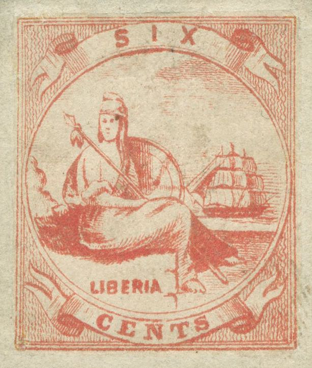 Liberia_Allegory_1st-series_6c_Unknown_Forgery4