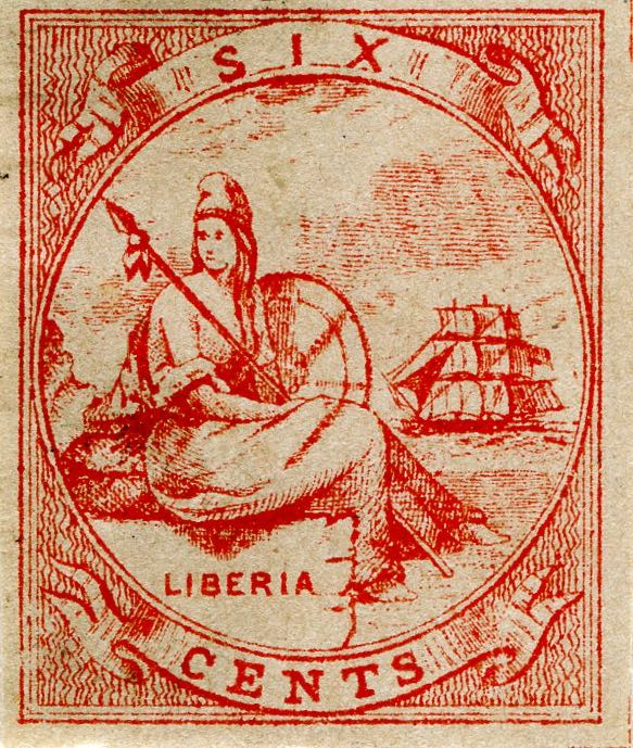 Liberia_Allegory_1st-series_6c_Unknown_Forgery5