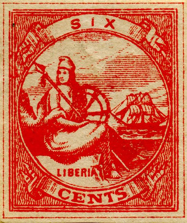 Liberia_Allegory_1st-series_6c_Unknown_Forgery6
