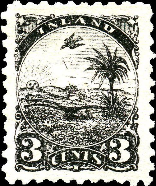 Liberia_Inland_Postage_3c_Genuine
